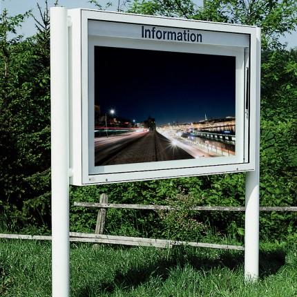 Schaukasten Classic eckig (beidseitig, 123mm Tiefe, RAL-Farbe)