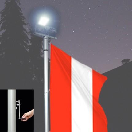 Fahnen-Lichtmast Kombilux 1-K