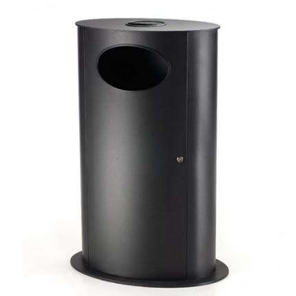 Abfallbehälter STEADY aus Stahl pulverbeschichtet