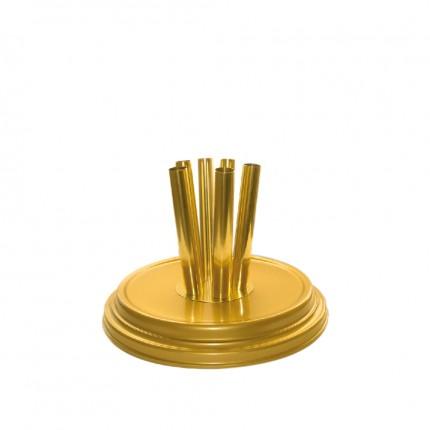 Raumständer 6-fach, gold matt