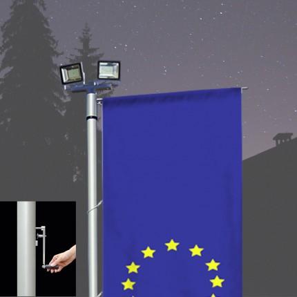 Fahnen-Lichtmast Kombilux 2-AK