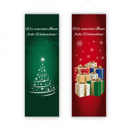 """Innendekofahne """"Weihnacht"""" 60x180cm"""