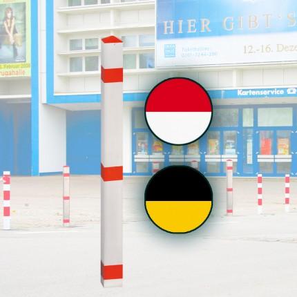Alu-Sperrpfosten Signal 70 x 70 mm