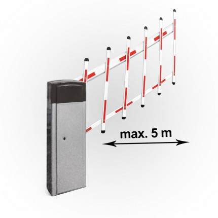 Elektromechanische Schrankenanlage bis 5m mit Hängegitter   KBS5