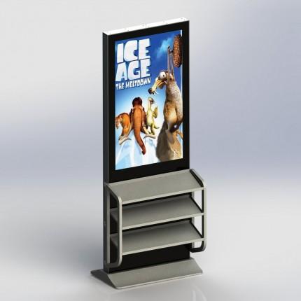 Indoor LCD Stele 42 Zoll mit Ablageflächen