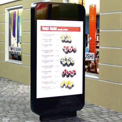 Werbe-Standschild Phone