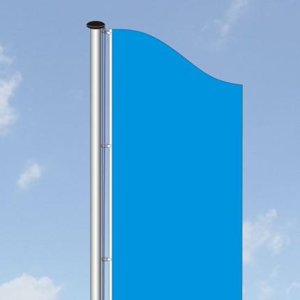 Aluminium-Fahnenmast ECONOMIC-70 - mit außenliegender Seilführung