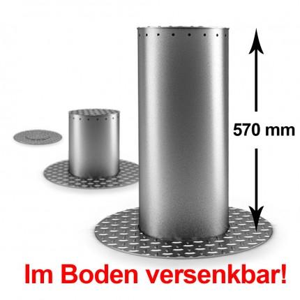 Automatik LED Poller ø 205 mm und 570 mm Höhe