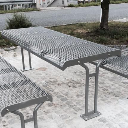 Parkbank Elea mit zwei Standbeinen - Tisch