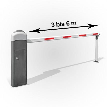 Elektromechanische Schrankenanlage Edelstahl bis 6m ausfahrbar | KBM6