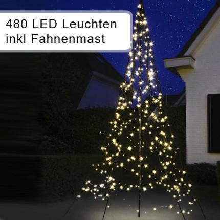 Weihnachtsbeleuchtung Lichterkette für Fahnenmasten