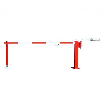 Schlagbaum Simple rot/weiß