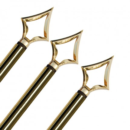 Fahnenstange mit Spitze gold, Ø 25 mm