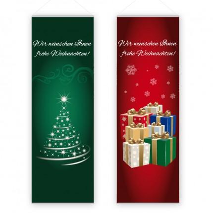 """Innendekofahne """"Weihnacht"""" 80x240cm"""