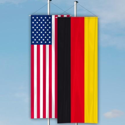 Nationenfahne als Bannerfahne