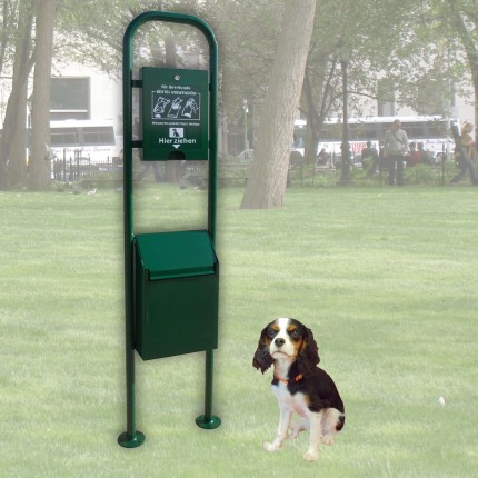 Hundetoilette DOG 1 - Abfallbehälter mit Tütenspender für Hundekot