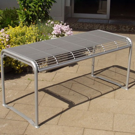 Parkbank-Serie ALEX - Tisch - aus Stahl