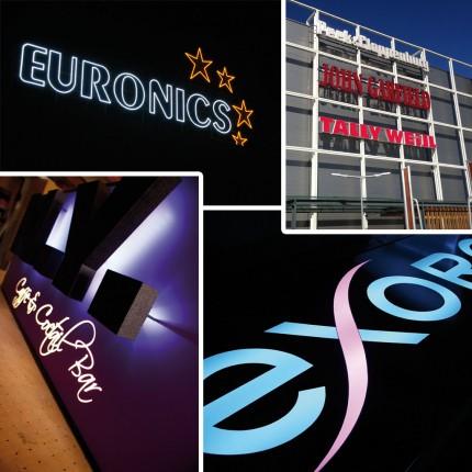 LED Reklame und Werbeschilder