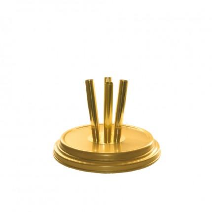 Raumständer 4-fach, gold matt