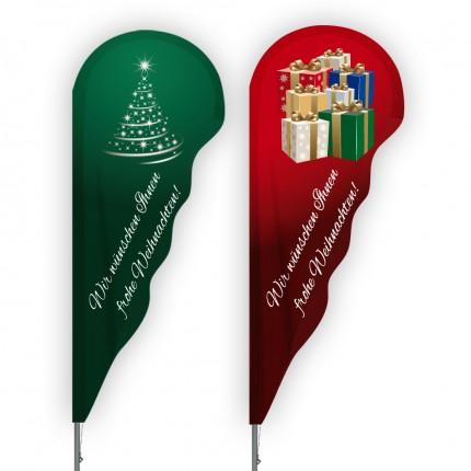 Weihnachts-Beachflag AluShepherd Niagara