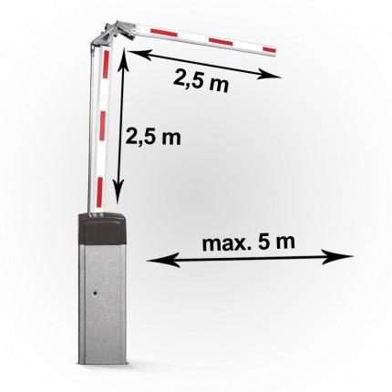 Elektromechanische Schrankenanlage bis 5m - geknickt | KBA5