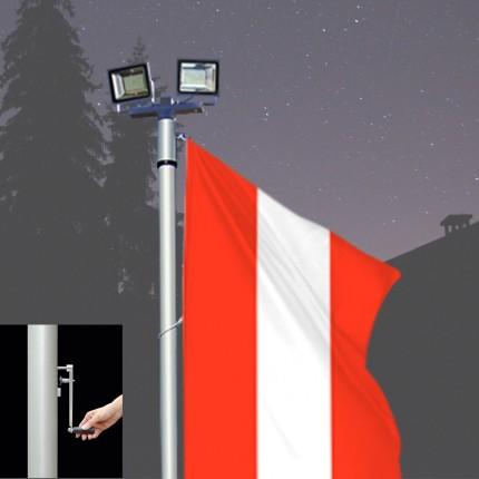 Fahnen-Lichtmast Kombilux 2-K