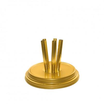 Raumständer 5-fach, gold matt