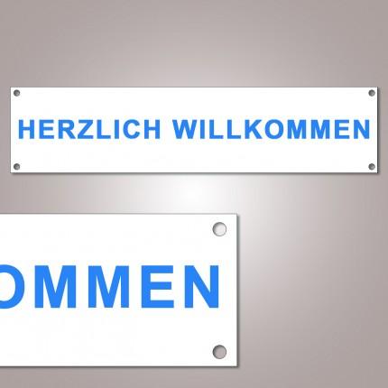 """Spannband """"Herzlich willkommen"""""""