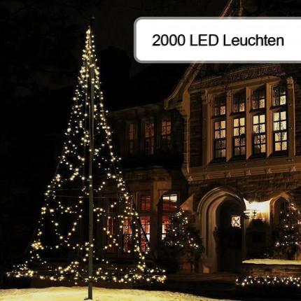 2000er Weihnachtsbeleuchtung für Fahnenmast