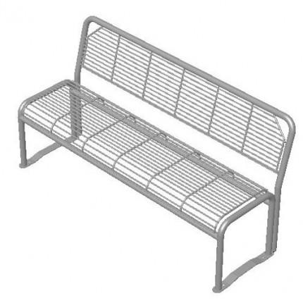 Parkbank ALEX - 3er Sitzbank mit Rückenlehne